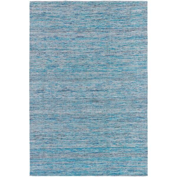 Mandara Hand-tufted Blue/ Grey Silk Rug