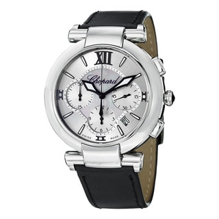 Chopard Women's 'Imperiale' Silver Dial Black Satin Strap Watch