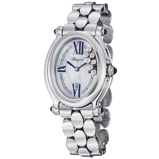 Chopard Women's 'Happy Sport Oval' Mother Of Pearl Diamond Dial Watch