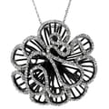 Tressa Collection Sterling Silver Cubic Zirconia Flower Necklace