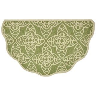Hand-hooked Savannah Green Rug (2'3 x 3'9)