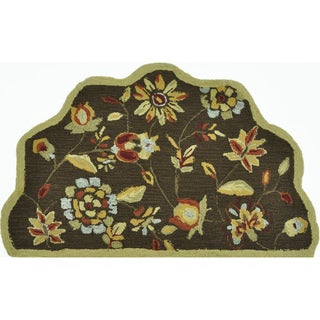 Hand-Hooked Savannah Brown Accent Rug (2'3