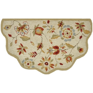 "Hand-Hooked Savannah Beige Accent Rug (2'3"" x 3'9"")"
