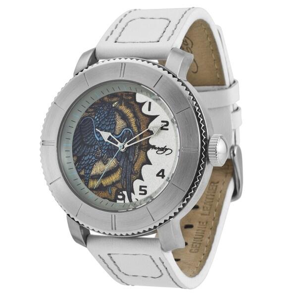 Ed Hardy Men's Stainless Steel Bird Watch
