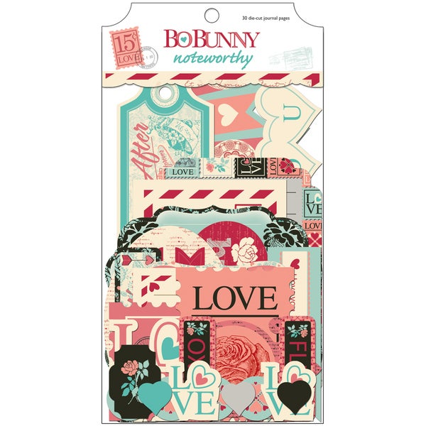 Love Letters Noteworthy Die-Cuts 30/Pkg-Journaling & Shapes