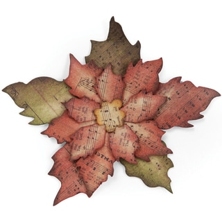 Sizzix Bigz Die By Tim Holtz-Tattered Poinsettia