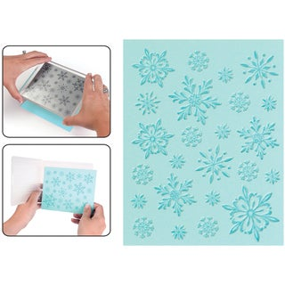 Sizzix Textured Impressions Embossing Folder & Stamp Set-Hero Arts Snowflake Background