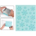 Sizzix Textured Impressions Embossing Folder & Stamp Set-Hero Arts Snowflake Background