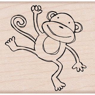 "Hero Arts Mounted Rubber Stamps 2.75""X2""-Playful Monkey"