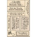 Inkadinkado Card Making Mounted Stamp Set 9/Pkg-Thank You