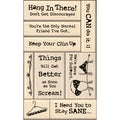 Inkadinkado Card Making Mounted Stamp Set 9/Pkg-Encouragement