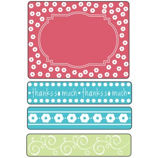 Sizzix Textured Impressions Embossing Folders 4/Pkg-Ornate Frames With Borders