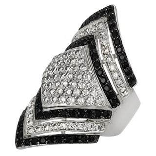 Tressa Collection Sterling Silver Cubic Zirconia Contemporary Ring