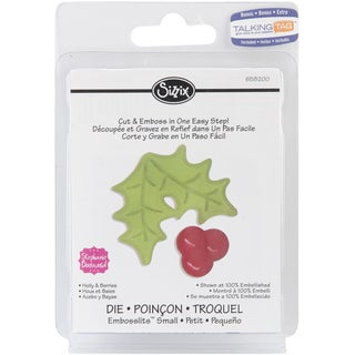 Sizzix Embosslits Die-Holly & Berries
