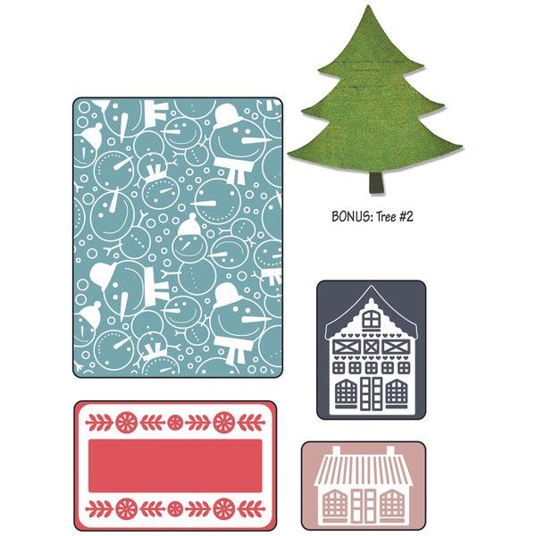 Sizzix Textured Impressions/Bonus Sizzlits By Basic Grey-Nordic Holiday Snowmen
