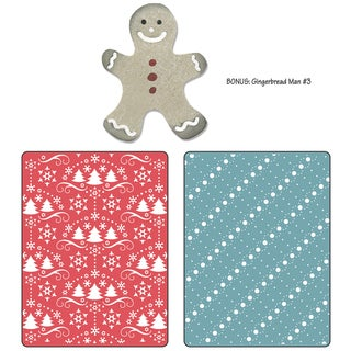 Sizzix Textured Impressions/Bonus Sizzlits By Basic Grey-Nordic Holiday Snow & Trees