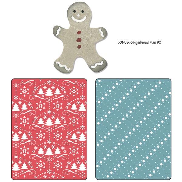 Sizzix Textured Impressions/Bonus Sizzlits By Basic Grey-Nordic Holiday Snow & Trees