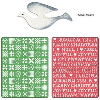 Sizzix Textured Impressions/Bonus Sizzlits By Basic Grey-Nordic Holiday Sweater, Cross Stitch Set