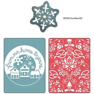 Sizzix Textured Impressions/Bonus Sizzlits By Basic Grey-Nordic Holiday From Our Home, Yule