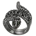 Tressa Collection Sterling Silver Cubic Zirconia Snake Ring