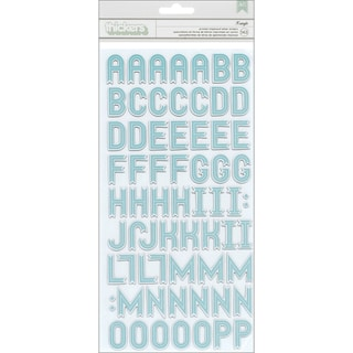 Kringle & Co. Thickers Alphabet Stickers-Glossy Chipboard Kringle/Fountain