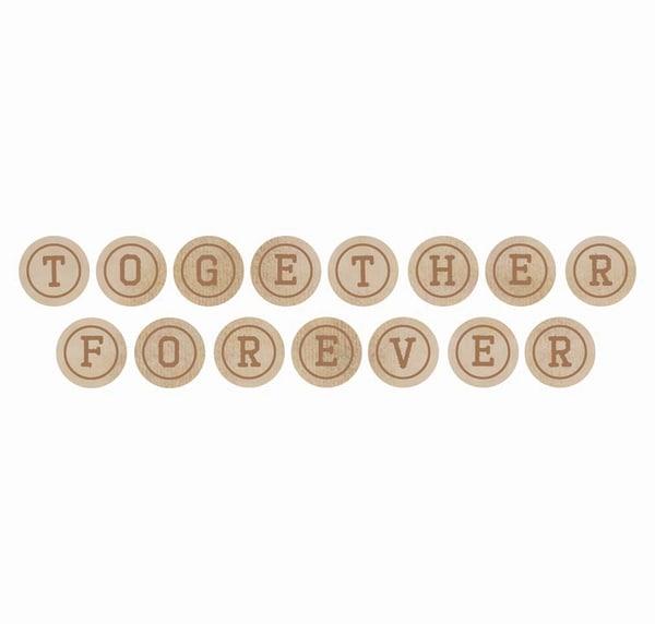 Wooden Letters-Together Words: Together, Forever