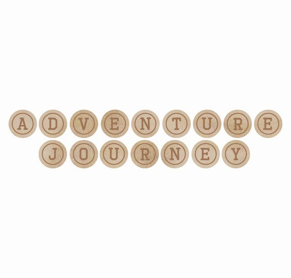 Wooden Letters-Journey Words: Adventure, Journey