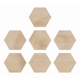 Wood Flourishes-Hexagons 7/Pkg
