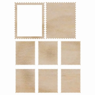 Wood Flourishes-Stamps 8/Pkg