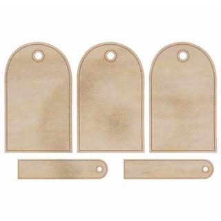 Wood Flourishes-Round Tags 5/Pkg