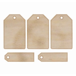 Wood Flourishes-Tags 5/Pkg