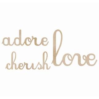 Wood Flourishes Words-Love, Adore, Cherish