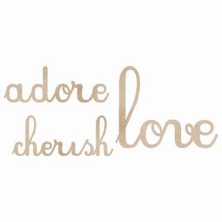 Wood Flourishes Words-Love, Adore, Cherish