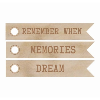 Wood Flourishes-Dream Word Flags 3/Pkg