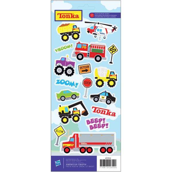 "Cardstock Stickers 4.75""X12"" Sheet-Tonka Kids"