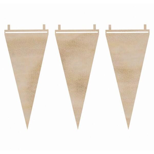 Wood Flourishes-Long Pennants 3/Pkg