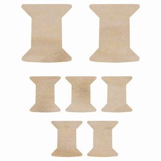 Wood Flourishes-Spools 7/Pkg