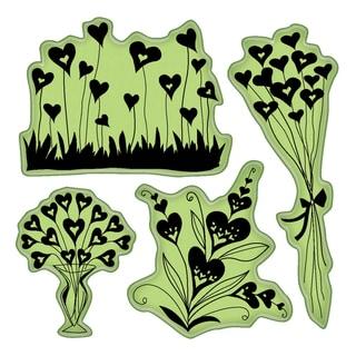 Inkadinkado Valentine Cling Stamps 4