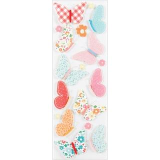 Martha Stewart Valentine Stickers-Stitched Butterfly