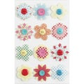 Martha Stewart Valentine Stickers-Stitched Button Flower