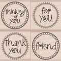 Hero Arts Mounted Stamp Set-Message Circles