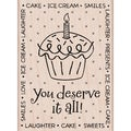 "Hero Arts Mounted Rubber Stamps 3.75""X3.25""-You Deserve Card"