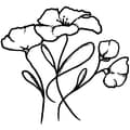Magenta Cling Stamps-Poppies