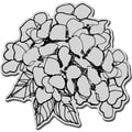Stampendous Cling Rubber Stamp-Hydrangea Bunch