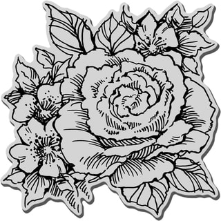 Stampendous Cling Rubber Stamp-Rose Cluster
