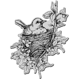 Stampendous Cling Rubber Stamp-Nestled Bird