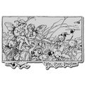 Stampendous Cling Rubber Stamp-Fairy Garden