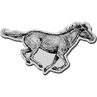 Stampendous Cling Rubber Stamp-Running Horse