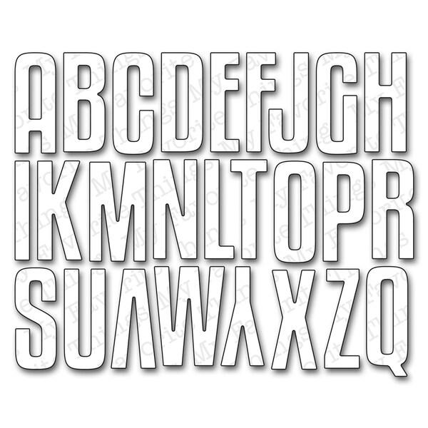 Die-Namics Die-High-Rise Alphabet Uppercase