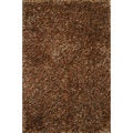 Hand-tufted Rocco Rust/ Brown Shag Rug (5'0 x 7'6)